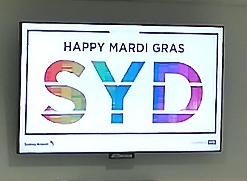 シドニー空港看板